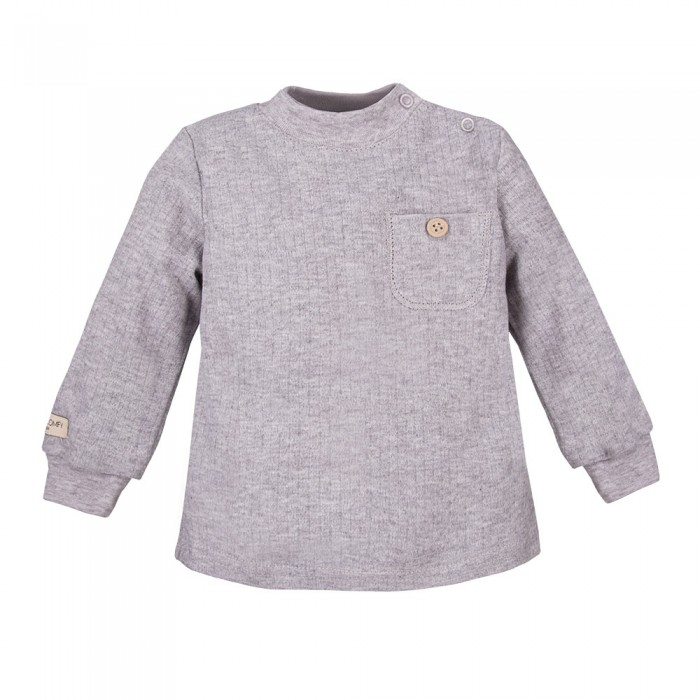 SIMPLY COMFY  marškinėliai su kišene pilki
