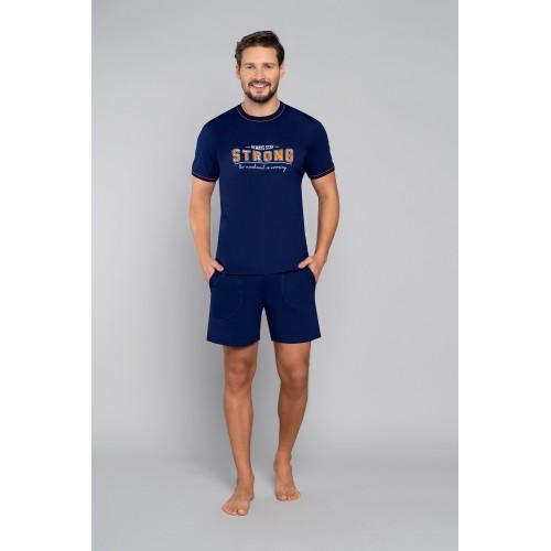 STRONG pižama su šortais (tamsiai mėlyna)